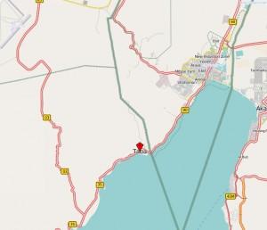 Taba liegt an einem ganz neuralgischen Punkt im Nahen Osten. Karte: OpenStreetMap.org