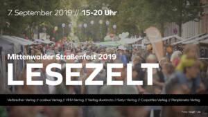 Lesezelt auf dem Mittenwalder Straßenfest 2019