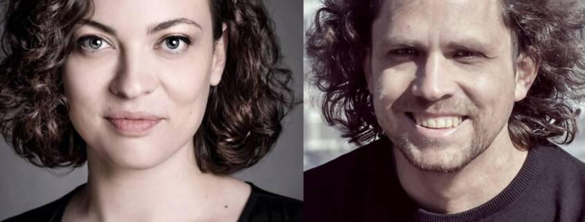 Stefanie Schleemilch (Verlag duotincta) und Marc Bensch (Carpathia Verlag)